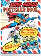 SUPER HEROES POSTCARD BOOK ( Superman, Superwoman, Batman, Green Latern ) ( 28 Postcards ) - Comics