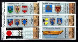 North Yemen, 1968, Olympic Winter 1972, 6 Stamps Imperforated - Winter 1968: Grenoble