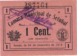 CÉDULA DA CÂMARA MUNICIPAL DE SETÚBAL 1 CENTAVO - Portugal