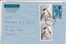 Trinidad & Tobago 1995 An Uprated Stationery To Finland - Trinidad & Tobago (1962-...)