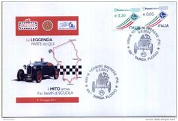 CARTOLINA + BUSTA NUMERATA 98 TARGA FLORIO CIRCOLO FILATELICO TERMINI IMERESE - Cars
