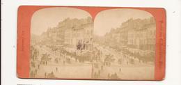 Carte Stéréoscopique Bouches Du Rhône Marseille Rue Canebière - Stereoscope Cards