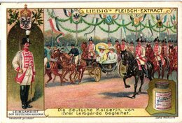 0933   Liebig 6 Cards Duits Life Guardsof Different Countries-Leibgardist-England-Deutchen Kaiserin-Zar&Zarin Gardekosak - Liebig