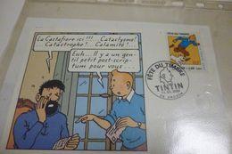 CARTE POSTALE FETE DU TIMBRE 2000 TINTIN HERGE/MOULINSART LA POSTE NUOVA NV - Francobolli