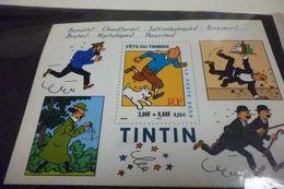 FOGLIETTO FETE DU TIMBRE 2000 TINTIN HERGE/MOULINSART LA POSTE NUOVO NEW - Stamps