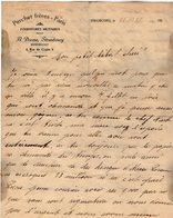 VP14.247 - Lettre - PERCHET Frères - PARIS - Fournitures Militaires - A. DORME Représentant à STRASBOURG - France