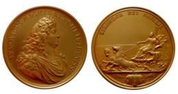 Médaille LOUIS XIV Splendor Rei Navalis (MAUGER) Hommage à La Marine - Royaux / De Noblesse