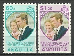 ANGUILLA 1973 WEDDING OF PRINCESS ANNE MNH - Anguilla (1968-...)
