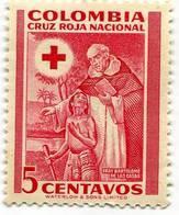 Lote CR12, Colombia, 1951, Sello, Stamp, Cruz Roja, Red Cross, Fray Bartolome De Las Casas - Colombia
