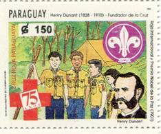 Lote PY49, Paraguay, 1994, Sello, Stamp, Cruz Roja, Scout, Henry Dunant, Nobel, Red Cross - Paraguay