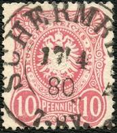 PREUSSEN 1880, NACHVERWEND.-STPL K2 SCHERMBECK AUF DR 33b, BPP SIGN. ZENTRISCH! - Prusse