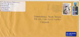 Trinidad & Tobago 2000 A Long Cover To Finland, Overprinted Bird And Bottle Shape Stamp - Trinidad & Tobago (1962-...)