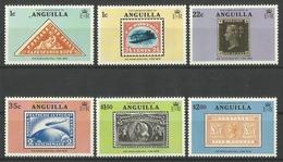 ANGUILLA 1979 DEATH CENTENARY OF ROWLAND HILL SET MNH - Anguilla (1968-...)