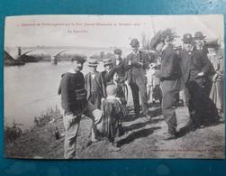 CPA - COUTRAS - Concours De Pêche Organisé Par Le Petit Journal Dimanche 23 Octobre 1904 Le Contrôle - Animée - 2 Scans - France