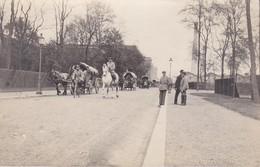 AK Foto Deutsche Soldaten Mit Pferden Und Fuhrwerken - 1. WK (38709) - Guerra 1914-18