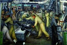 Art, Detroit Industry - Diego Rivera Postcard - RPPC Size: 15x10 Cm.aprox. - Arte