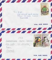 Trinidad & Tobago 1992 2 Covers To Finland, Birds - Trinidad & Tobago (1962-...)