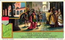 1242   Liebig 6 Cards C1930   Duits Milan Through The Ages-Aus Mailands Alten Tagen- - Liebig