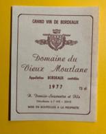 9708 - Domaine Du Vieux Mourlane 1977 - Bordeaux