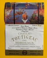 9710 - Château Toutigeac 1989 Minéraux D'automne Artiste Catherine Bouyx - Bordeaux