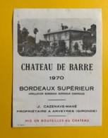 9711 - Château De Barre 1970 - Bordeaux