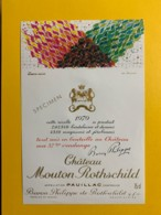9713 - Château Mouton Rothschild 1979 Artiste De Domoto Spécimen - Bordeaux