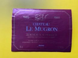 9715 - Château Le Mugron 1985 - Bordeaux