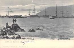 Bahia De Iquique Hafen Mit Dreimastern - Chile