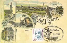 St.Ingbert Repro Einer Litho 1100 Jahre St.Ingbert 1988 - Saarpfalz-Kreis