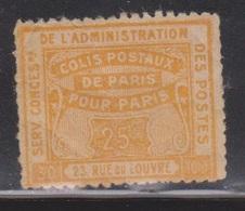 FRANCE Scott # ?? MH - Parcel Post - Of Paris For Paris - Parcel Post