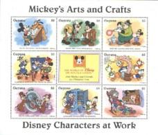 Guyana Disney Mickey Horlogerie Clockwork MNH ** SC (A52-107a) - Disney
