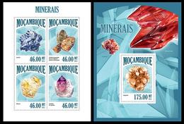 Mozambique 2013, Minerals, Klb + S/s MNH - Mineralen