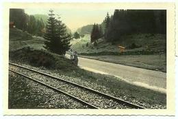 RARE SUISSE SWISS Col De La Givrine 40s Cergue La Cure Surreal Etrange Homme Femme Colorisé Hand Tinted Rail Train - Lieux