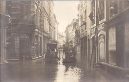 Huy Photo Carte Puvrez  , Innodations 1920 Attelage Amenant Journal  Barque Commerce Jean Rolin Successeur Delme Delince - Huy