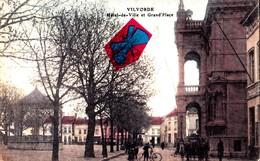 VILVORDE - Hôtel De Ville Et Grand'Place - Carte Colorée Et Animée - Vilvoorde