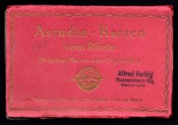 C1749 - Astudin Leporello 20 Farbige Karten Nach Ölgemälde - Hoursch & Bechstedt - Rhein - Illustrateurs & Photographes
