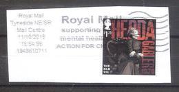 Gran Bretaña 2018-1sello Usado Con Fragmento- 200 Aniversario Teatro Old Vic-Hedda Gabler 1970 - 1952-.... (Elizabeth II)