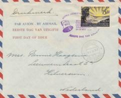 Curacao - 1957 - 15 Cent Geestelijke Volksgezondheid 1e Dag E1 Als Drukwerk Van Willemstad Naar Hilversum - Curaçao, Nederlandse Antillen, Aruba
