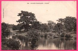 Guinée Française - Correra - Pirogue - Pagode - Photo FORTIER - French Guinea