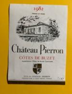 9717 - Château Pierron 1982 Côtes De Buzet - Etiquettes