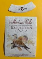 9729 - Tourterelles 1998 Mont-sur-Rolle Suisse - Etiquettes