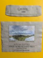 9731 - Aux Saugettes Pinot Noir De Saint-Prex 1995  Suisse Aquarelle De Pietro Sarto - Art