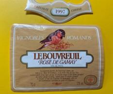 9732 - Le Bouvreuil Rosé De Gamay 1997  Suisse - Etiquettes