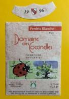 9735 - Domaine Des Coccinelles Perdrix Blanche 1996 Suisse - Etiquettes