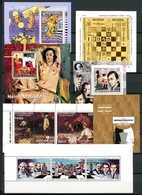 Lot Blöcke Motiv Schach Postfrisch MNH (Scha5056 - Chess