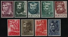 Portugal 1955 - Mi-Nr. 835-843 ** - MNH - Könige / Kings (I) - 1910-... Republic