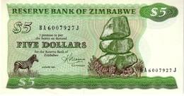 Zimbabwe P.2 5 Dollars 1983   Unc - Zimbabwe