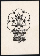 C1757 - A.M. Schwindt Schernschnitt - Engel Angel Stern - Chlodwig Rinck - Glückwunschkarte Spruchkarte - Silhouettes