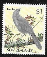 1985 $1 North Island Kōkako, Used - New Zealand