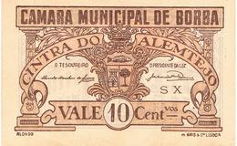 CÉDULA DA CÂMARA MUNICIPAL DE BORBA 10 CENTAVOS - Portugal